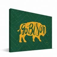 "North Dakota State Bison 8"" x 12"" Mascot Canvas Print"