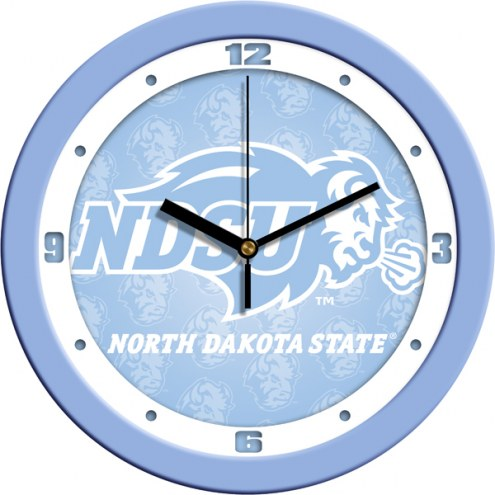 North Dakota State Bison Baby Blue Wall Clock