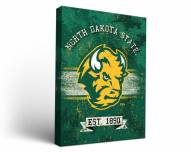 North Dakota State Bison Banner Canvas Wall Art