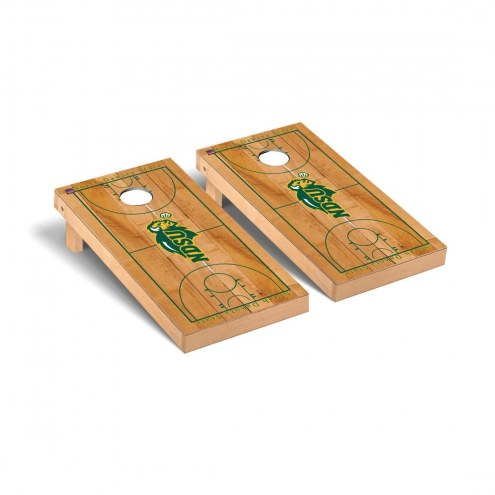 North Dakota State Bison Basketball Court Cornhole Game Set