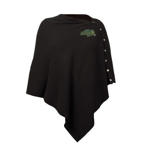 North Dakota State Bison Black Out Button Poncho