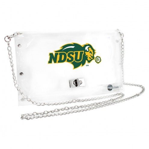 North Dakota State Bison Clear Envelope Purse