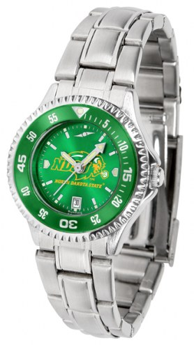 North Dakota State Bison Competitor Steel AnoChrome Women's Watch - Color Bezel