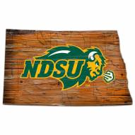 North Dakota State Bison Distressed State with Logo Sign