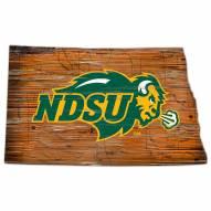 North Dakota State Bison Distressed State with Logo Sign