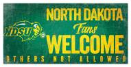 North Dakota State Bison Fans Welcome Sign