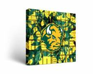 North Dakota State Bison Fight Song Canvas Wall Art