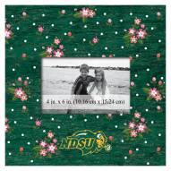 "North Dakota State Bison Floral 10"" x 10"" Picture Frame"