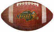 North Dakota State Bison Football Shaped Sign