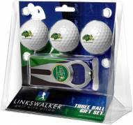 North Dakota State Bison Golf Ball Gift Pack with Hat Trick Divot Tool