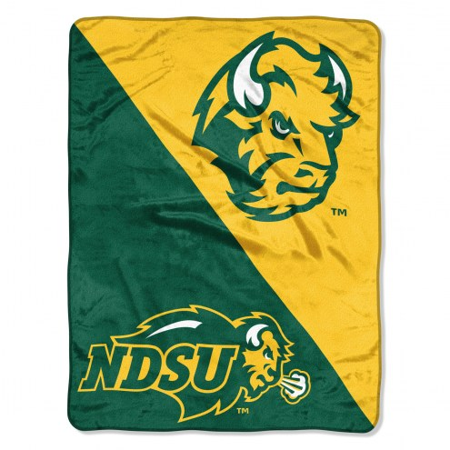 North Dakota State Bison Halftone Raschel Blanket