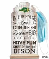 North Dakota State Bison In This House Mask Holder