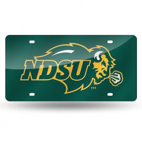 North Dakota State Bison Laser Cut License Plate