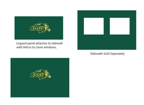 North Dakota State Bison Logo Canopy Sidewall Panel (Attaches to Window Sidewall)