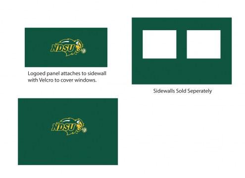 North Dakota State Bison Logo Canopy Sidewall Panel (Attaches to Window Sidewall)