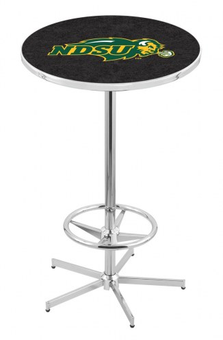 North Dakota State Bison NCAA Chrome Bar Table with Foot Ring