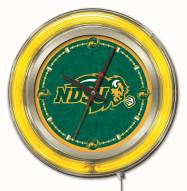 North Dakota State Bison Neon Clock