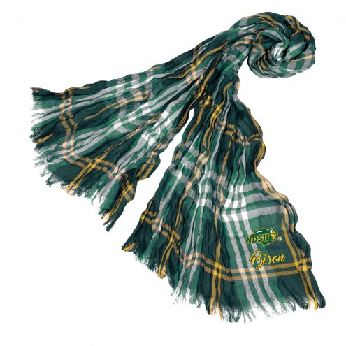 North Dakota State Bison Plaid Crinkle Scarf