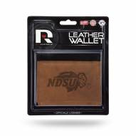 North Dakota State Bison Brown Leather Trifold Wallet