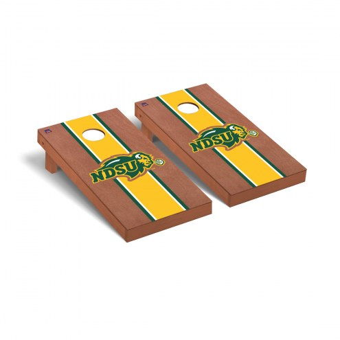 North Dakota State Bison Rosewood Stained Cornhole Game Set