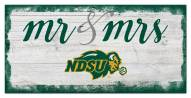 North Dakota State Bison Script Mr. & Mrs. Sign