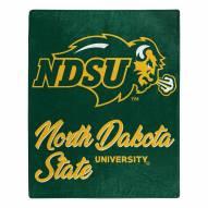 North Dakota State Bison Signature Raschel Throw Blanket