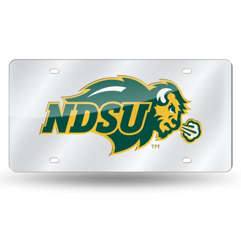 North Dakota State Bison Silver Laser Cut License Plate