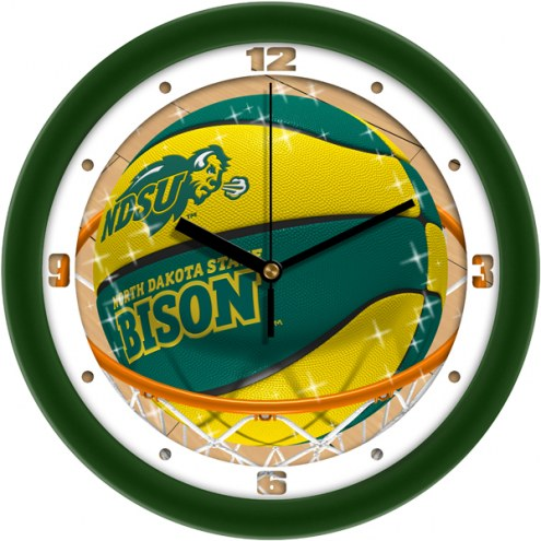 North Dakota State Bison Slam Dunk Wall Clock
