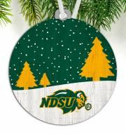 North Dakota State Bison Snow Scene Ornament