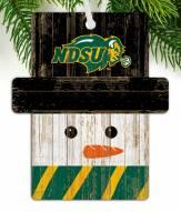 North Dakota State Bison Snowman Ornament