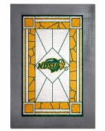 North Dakota State Bison Stained Glass with Frame