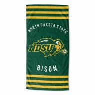 North Dakota State Bison Stripes Beach Towel