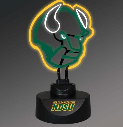 North Dakota State Bison Team Logo Neon Lamp