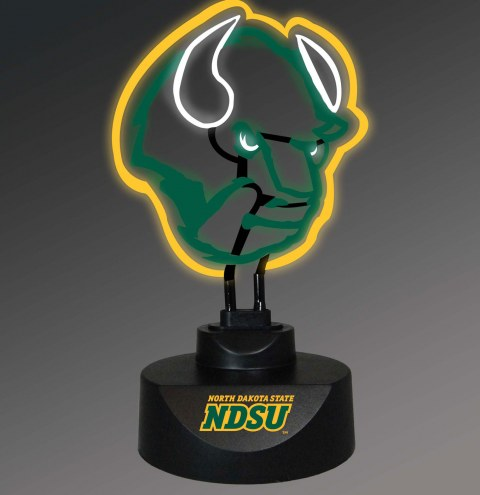 North Dakota State Bison Team Logo Neon Lamp