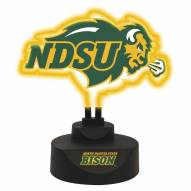 North Dakota State Bison Team Logo Neon Light