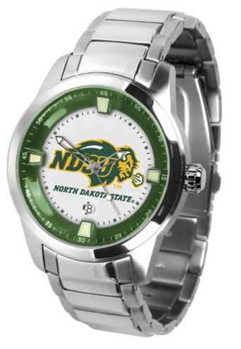 North Dakota State Bison Titan Steel Men's Watch