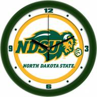 North Dakota State Bison Traditional Wall Clock