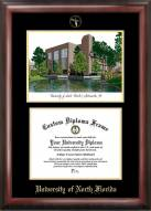 North Florida Ospreys Gold Embossed Diploma Frame with Campus Images Lithograph