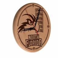 North Florida Ospreys Laser Engraved Wood Clock