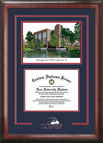 North Florida Ospreys Spirit Diploma Frame with Campus Image