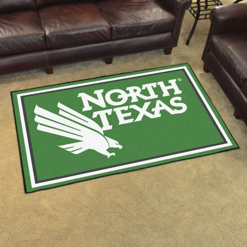 North Texas Mean Green 4' x 6' Area Rug