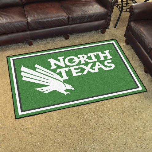 North Texas Mean Green 5' x 8' Area Rug