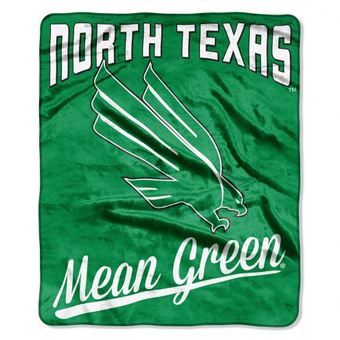 North Texas Mean Green Alumni Raschel Throw Blanket