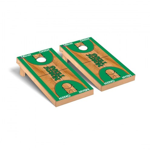 North Texas Mean Green Basketball Court Cornhole Game Set