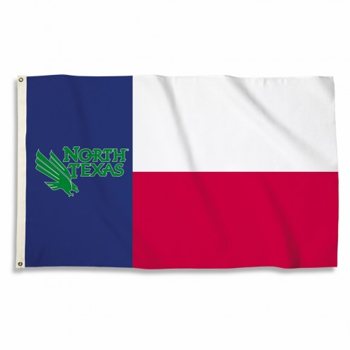 North Texas Mean Green 3' x 5' Motif Flag