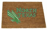 North Texas Mean Green Colored Logo Door Mat