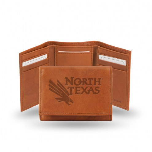 North Texas Mean Green Embossed Tri-Fold Wallet