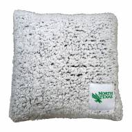 North Texas Mean Green Frosty Throw Pillow