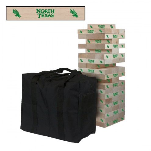 North Texas Mean Green Giant Wooden Tumble Tower Game