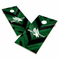 North Texas Mean Green Herringbone Cornhole Game Set
